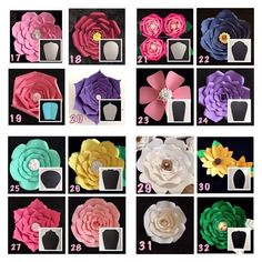 Hardcopy Paper Flower Templates / DIY paper flowers / Price is for ONE style