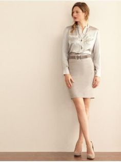 classy neutral work outfit