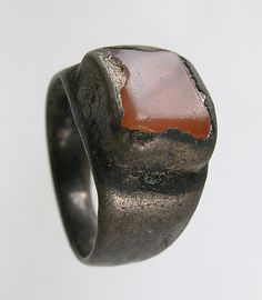 Date: century (?) Geography: Made in Northern France Culture: Frankish Medium: Silver, onyx Dimensions: Overall: x x in. x x 1 cm) bezel: x x in. x x cm) Classification: Metalwork-Silver Renaissance Jewelry, Medieval Jewelry, Viking Jewelry, Ancient Jewelry, Medieval Art, Tribal Jewelry, Stone Jewelry, Ancient Vikings, Ring Finger