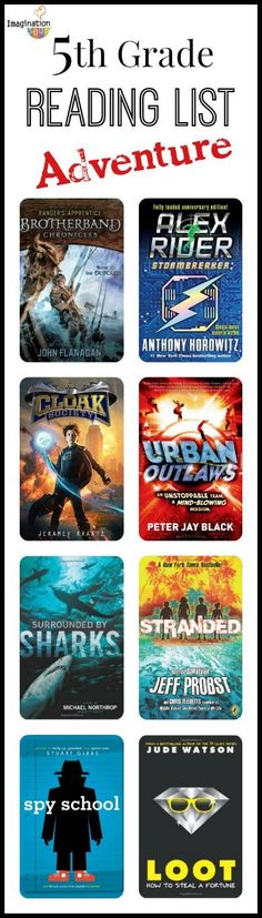 adventure books for 5th grade readers - great list for summer reading