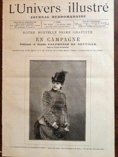 Gabrielle Rejane, apprezzata attrice francese della Belle Époque, sulla rivista L'univers illustré...