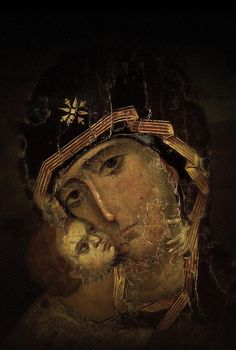 Unknown byzantine artist of the century, Die Gottesmutter von Wladimir, century Orthodox Prayers, Orthodox Christianity, Byzantine Icons, Byzantine Art, Christian Images, Christian Art, Religious Icons, Religious Art, Christ Pantocrator