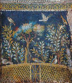 Pompei Gartenszene, Mosaikbrunnenwand, Massa Lubrense, 1. Jh. n. Chr.