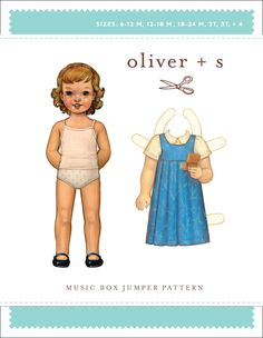 Music Box Jumper from Oliver + S:  simple, empire-waist jumper sewing pattern designed especially for beginning sewers.