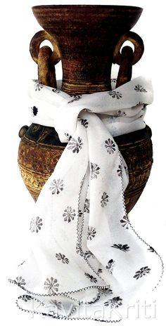 Hand Block Printed Silk Scarf. Black White Daisy Scarf by KavitaKriti, $28.00  http://www.etsy.com/listing/153755021/hand-block-printed-silk-scarf-black?ref=shop_home_active