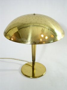 Perforated brass lamp by Paavo Tynell for sale at Deconet