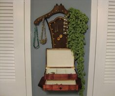 Upcycled/ Repurposed Chair Back Jewelry Rack by PeacockWhatYouLove