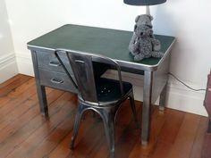 small steel desk