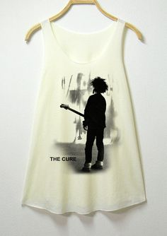 Sold. To ME! Yeah.   The cure women tank top off white shirt  sleeveless. Via Etsy.com.