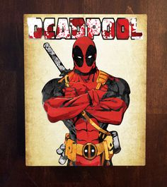 Comic Book Metal Wall Art  Deadpool Marvel  Man by UncannyPrints