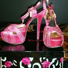 """Eye candies Celine high heels Only wore once on wedding day they are pink 5"""" heels Celine Shoes Heels"""