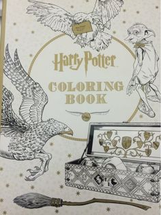 Harry Potter Coloring Book|12 Adult Color Books for Adults | Art Therapy that Reduces Stress  http://diyready.com/adult-color-books/