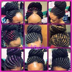 Love Ghana Braids Hairstyles, Braided Hairstyles Updo, African Hairstyles, Bob Braids, Hair Updo, Braided Updo, Updos, Black Girl Braids, Braids For Black Hair