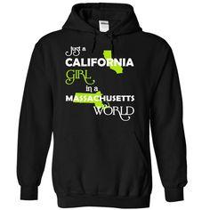 (CAXanhChuoi001) Just A 웃 유 California Girl In A Massachusetts WorldIn a/an name worldt shirts, tee shirts