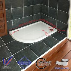 40mm-Slimline-Offset-Quadrant-Shower-Enclosure-Stone-Resin-Tray-FREE-Waste-Trap