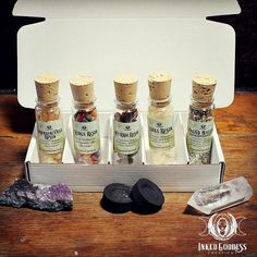 Stock your witchy cabinet with powerful, pure resins with the Magickal Resin Set from Inked Goddess Creations. Norse Goddess Of Love, Celtic Goddess, Egyptian Cat Goddess, Dream Jar, Frankincense Resin, Witchcraft Supplies, Glass Vials, Witches Brew, Votive Candles