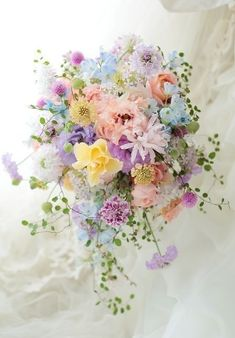 Pastel Bouquet, Pastel Flowers, Floral Bouquets, Beautiful Flowers, Purple Bouquets, Bridal Bouquets, Spring Wedding Bouquets, Beautiful Bouquets, Colorful Flowers