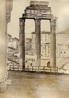 1854 circa Anderson James . Tempio dei Dioscuri .