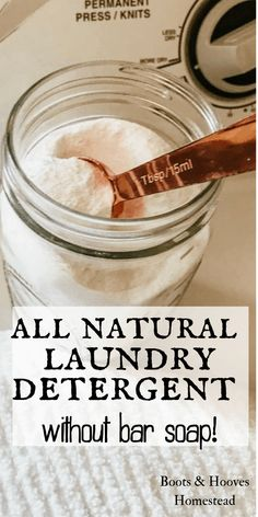 DIY Natural Laundry Detergent (without bar soap!) DIY Natural Laundry Detergent (without bar soap!),Non-Toxic & DIY Cleaning Products The best all natural laundry detergent power recipe that you can make at home with just. Powder Laundry Detergent, Laundry Powder, Homemade Laundry Detergent, Eco Friendly Laundry Detergent, Homemade Cleaning Products, House Cleaning Tips, Natural Cleaning Products, Natural Cleaning Recipes, Natural Products