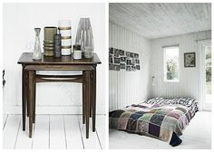 love the nesting tables and quilt!