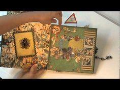 Scrapbook mini album - Graphic 45 Le Cirque Mini Album