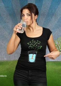Tree In A Glass T-Shirt | Design by Monry, Paris $19.95