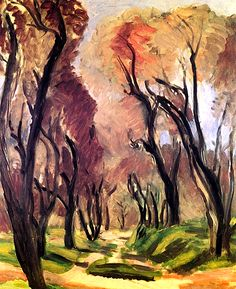 """""""Lane of Olive Trees"""" -- 1919 -- Henri Matisse -- French -- No further reference provided."""