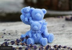 Trzy niedźwiadki - mydełka glicerynowe z serii Happy Soaps o pięknym, lawendowym zapachu. Od La Quintessence. #laquintessence.pl
