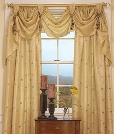 how to make curtain swag - Google Search