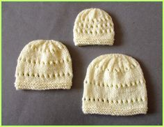 Small Premature                          Medium Premature                            Large Premature Little Jay  ~  Baby Hats    ...