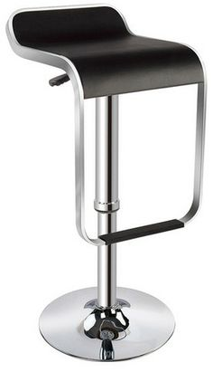 Skyler Bar Stool Features Dimension to x x Chrome Base / PVC Chrome wraps around seat of stool Color Black or White Adjustable  sc 1 st  Pinterest & JULIUS Bar stool steel leather black $69.99 The price reflects ... islam-shia.org