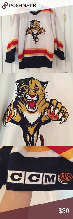 Florida Panthers Hockey Jersey Great condition. Lightly worn. Officially licensed product of the NHL. Men's L or Women's XL. Shirts Tees - Long Sleeve
