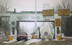 Mount Hope Bridge (when it was a toll bridge) Opened 1929