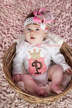 Royal Princess Alpha Onesie and OTT Bow by eed953 on Etsy https://www.etsy.com/listing/155685492/royal-princess-alpha-onesie-and-ott-bow