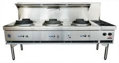 GOLDSTEIN Chinese Cooking Range Air Cooled 3 Woks 2177mm - CWA3B2 | Channon
