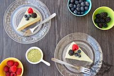 Cheesecake+al+tè+matcha