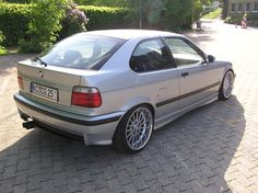 Bmw e36 compact on OEM bmw styling 32 wheels