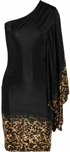 one sleeve knee length dress