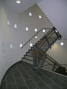 Nyborg skole (2004) – ARC arkitekter Stairs, Home Decor, Stairway, Decoration Home, Staircases, Room Decor, Stairways, Interior Design, Home Interiors