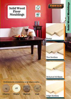 Floor Molding, Maple Walnut, Solid Wood Flooring