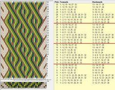 32 tarjetas, 5 colores, repite cada 8 movimientos // sed_866 diseñado en GTT༺❁