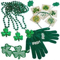 FANCY DRESS IRISH SHUTTER CLOVER GLASSES ST PATRICKS DAY IRELAND
