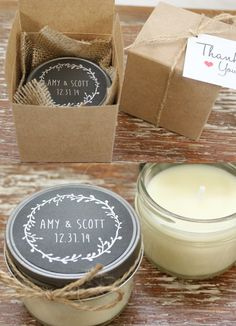 Candle Wedding Favors{ Unique and Practical wedding favors } fabmood.com