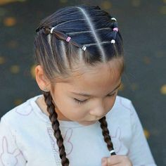 New Braided Hairstyles, Girls Hairdos, Lil Girl Hairstyles, Trendy Hairstyles, Girl Haircuts, Cute Hairstyles For Toddlers, Easy Toddler Hairstyles, Kids Hairstyle, Long Haircuts
