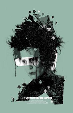 Edward Scissorhands 11x17 inch  poster by TheArtOfAdamJuresko, $22.00