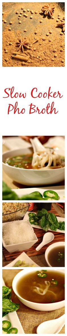 Slow Cooker Vietnamese Pho Broth | easy to make & FULL of flavor