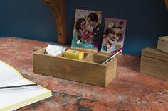 Casier 3 compartiments en bois « Vintage »