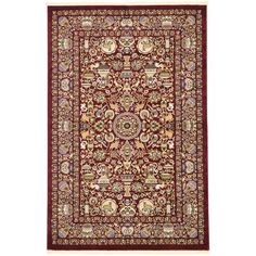 Unique Loom Kashmar Burgundy Area Rug Rug Size: