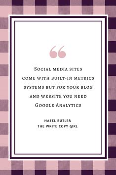 Social media sites come with built-in metrics systems but for your blog and website you need Google Analytics.  18 Epic Content Marketing Tools For Massive Business Growth http://thewritecopygirl.com/content-marketing-tools/?utm_campaign=coschedule&utm_source=pinterest&utm_medium=Hazel&utm_content=18%20Epic%20Content%20Marketing%20Tools%20For%20Massive%20Business%20Growth