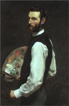 Frederic Bazille - Self Portrait Born: 06 December 1841; Montpellier, France Died: 28 October 1870; Beaune-la-Rolande, France